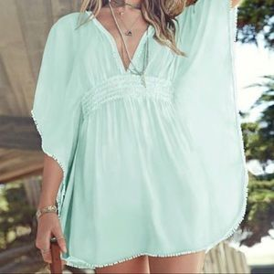 Victoria Secret Mint Green Swim Coverup Caftan 220